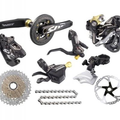 Components of Shimano, Sram and accessories for mtb and touring bikes